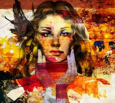 Digital painted portrait by Neil duerden