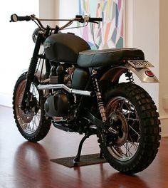 Triumph T100 #motorbike #hammarhead #black #industries #triumph #scrambler #t100
