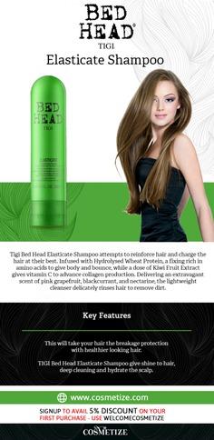 Tigi Bed Head Elasticate Shampoo Infographic