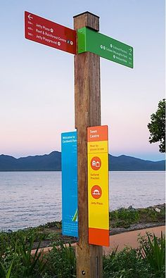 Cardwell wayfinding signage, http://www.commarts.com/exhibit/Environmental-Graphics/cardwell-wayfinding.html #signage #environmental