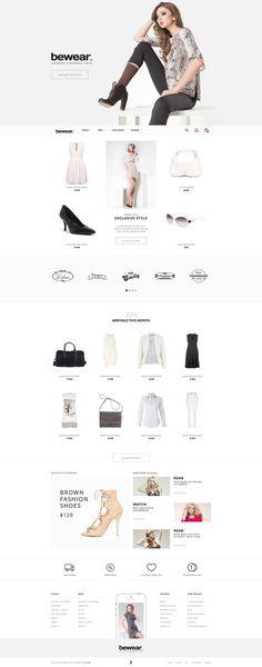 Bewear – Lookbook Style eCommerce on Inspirationde