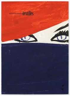International Textiles cover No. 338, I 1961 | MODESQUISSE #red #eyes #rene #mode #gruau #fashion