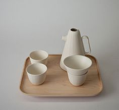 Coffee Set With a Wooden Tray by Luca Nichetto - #design, #productdesign, #industrialdesign, #objects