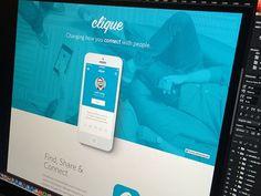 Clique Dribbble #web