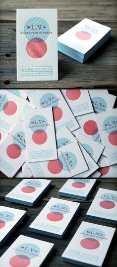 Letterpress Business Cards #card #business