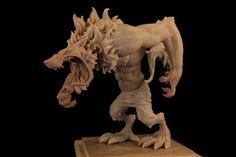 Ezop the Werewolf 1 by The-Small on deviantART #werewolf #sculpture