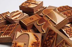 Bodoni - Jonny Holmes #wood #cut #type #laser