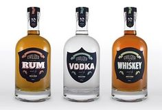 Rum Vodka Whiskey #packaging