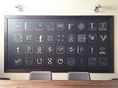 Dribbble - Chalkboard App Icons by Garrett Gee