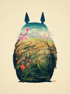 Tonari no Totoro Stretched Canvas by Victor Vercesi | Society6 #illustration #totoro