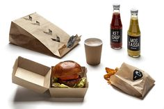 Burger station on Behance #pack