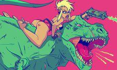 dinosaur laser battle by kayliesaurus-rex on deviantART #dinosaur laser battle