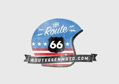Route66 on the Behance Network #logotype #route66 #helmet #branding