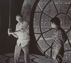 Irvin Kershner and Mark Hamill on the set of Star Wars: Episode V - The Empire Strikes Back(1983) #star wars #movie #space #actor #director