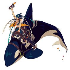 Yee Haw! by edrw on deviantART #rider #whale #edrw #killer