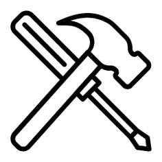 See more icon inspiration related to hammer, construction, screwdriver, improvement, home repair, tools and construction and tools on Flaticon.