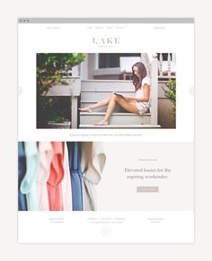 Lake by Nudge #web design #web #website
