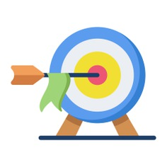 See more icon inspiration related to target, arrow, business and finance, sports and competition, seo and web, dart board, targeting, objective, darts, archery and weapons on Flaticon.