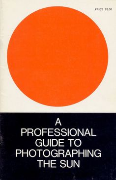 A Professional Guide to Phographing the SUn #design #graphic #book #covers #cover