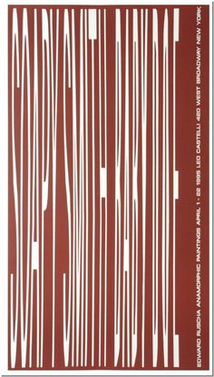 Edward Ruscha: Leo Castelli, 1995 | eBay #poster