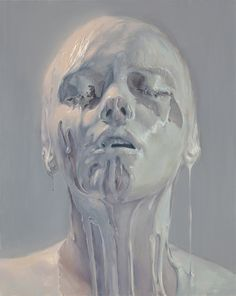 Ivan Alifan - Porcelain Skin, oil on canvas, 2012 #painting #porcelain #woman #art