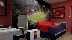 Pokój dla wszystkich dzieci, które są fanami FC Barcelony. Zobacz więcej na https://www.meblik.pl/kolekcja/club-na-licencji-fc-barcelona
