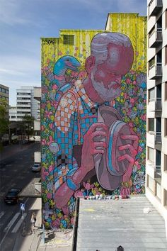 #conjested || unurth | street art #graffiti #massive #full wall