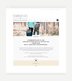 Commonplace by Rowan Made #website #web design