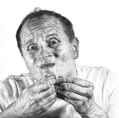 Heikki Leis photo realistic pen illustration