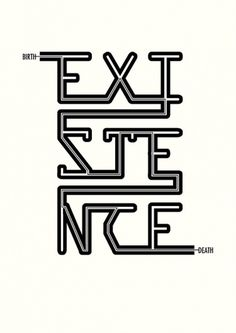 Existential Posters - Paweł Adamek Graphic Design & Illustration   +44(0)7856797072 #birth #pawel #existentialism #existential #existence #death #adamek