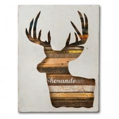 Dolan Geiman - Mixed Media Collections #deer #collage #silhouette