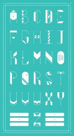 ZWEI Plus on the Behance Network #letters #geometry #shapes #geometric #alphabet #poster #teal #typography