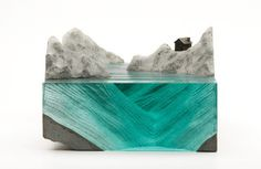 Varia — Design & photography related inspiration #ocean #sculpture #concrete #water #wave #glass #sea #art #object