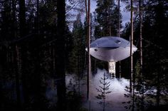 Ufo Treehouse Hotel In Sweden #treehouse