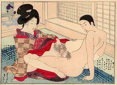 Gallery of Fine Japanese Arts - Munich - Terasaki (Terazaki) Kôgyô (1866-1919) #shunga #ispirazione