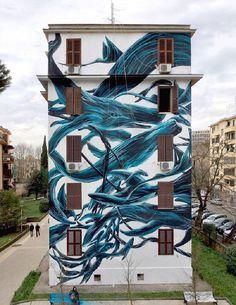 Street Artist Painted Murals of Wild Animals