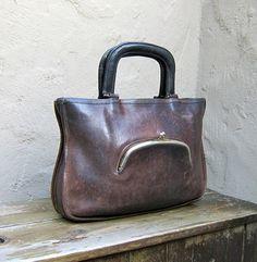 bag in bag #brown #leather #old #bag
