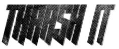 logo for thrash it cycling zine