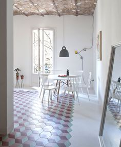 So Cheery and Fresh Tyche Apartment - dining area, dining table, dining, table, chairs, decor, #diningroom