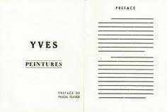 Minimal, Yves Klein