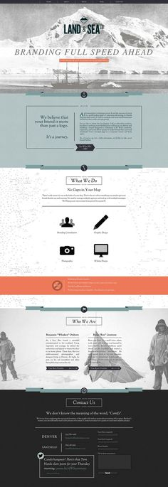 Land and Sea Website Design #layout #website #web design