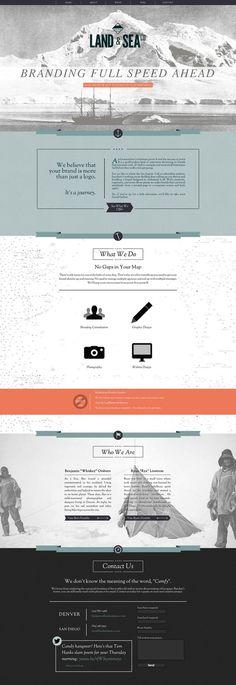 Land and Sea Website Design