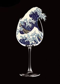 javier jaén #spain #japanese #wave #glass #illustration #sea #boat #barcelona #jan #metaphor #javier