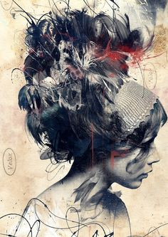 Digitally Assembled Paintings by Russ Mills #paint #illustration #mixed #media #drawing