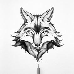 THE FOX Johann Lucchini @yopich #fox #drawing #ink #illustration #blackandwhite