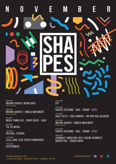 Shapes Hackney Artwork / Posters by James Kirkup