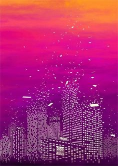 delicious design / by tan yau hoong #illustration #surreal #city #tan yau hoong #illust