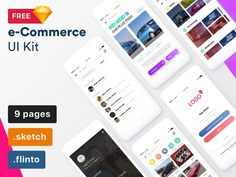 e-Commerce Sketch UI Kit. Download it for free https://www.thehotskills.com/sketch-app-ui-kits-free
