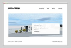 Kirsh + Dereka Arkitekter #website #layout #design #web