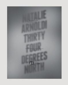 Natalie Arnoldi — Thirty Four Degrees North Kyle LaMar #cover #poster #typography